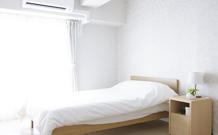 寝室のエアコン